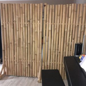 Bamboe terras scherm dubbel